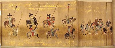 1655년 남용익이 참가한 조선통신사의 행렬도 (대영박물관 소장)